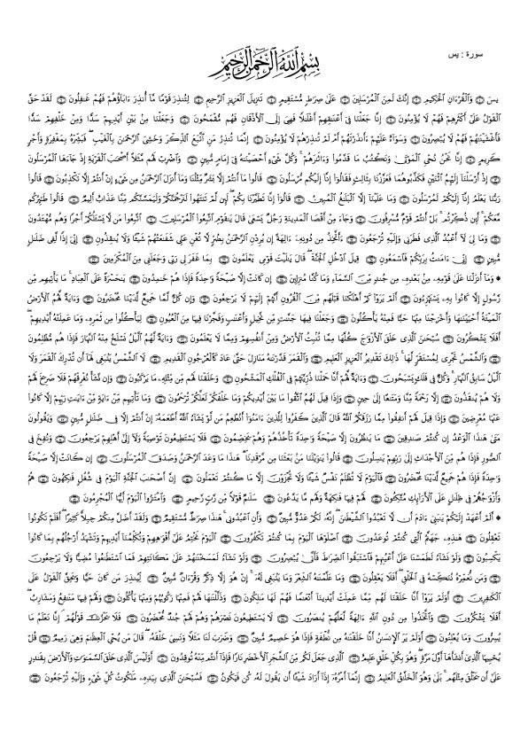 Surah yaseen sharif full english-urdu tarjuma ke sath.